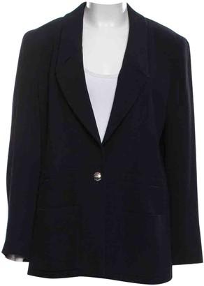Chanel Blue Wool Jackets