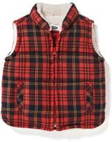 Old Navy Sherpa-Lined Plaid Frost Free Vest for Baby