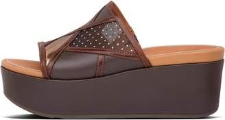 FitFlop Eloise Art Deco Patchwork Wedge Slides