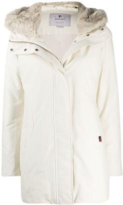 Woolrich Zip-Up Hooded Coat