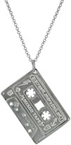 Edge Only Mixed Tape Pendant In Silver