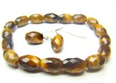 Wagga Shop BTEXRE0710C Tiger's Eye Rice 7x10mm Cut Bracelet, Women Bracelet