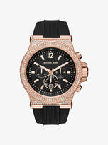Michael Kors Dylan Pave Rose Gold-Tone And Silicone Watch