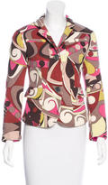 Emilio Pucci Wool Abstract Print Blazer