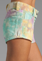 This is a Love Song Unicorn Shorts in Tie Die