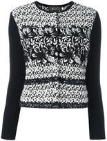 Giambattista Valli ribbed sleeve tweed jacket - women - Cotton/Polyamide/Viscose/Virgin Wool - 46