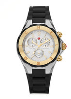 Michele Tahitian Large Jelly Bean Two-Tone Chronograph, Yellow Golden/Black