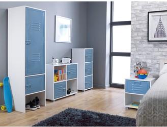 Lloyd Pascal Edison Metal Locker2 Door Wardrobe -Blue