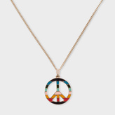 Paul Smith Women's Artist Stripe 'Peace Sign' Gold Necklace
