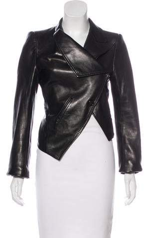 Ann Demeulemeester Leather Structured Jacket