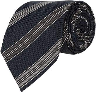 Tom Ford Diagonal Stripe Silk Tie