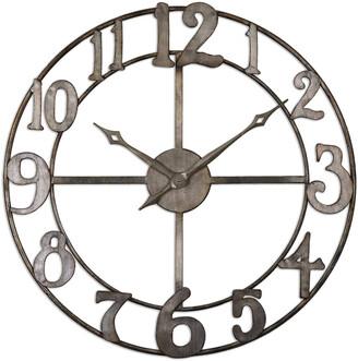 Uttermost Delevan 32In Metal Wall Clock