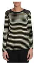 Sun 68 Women's Black Polyester T-shirt.