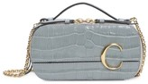 Chloé C Croc-Embossed Leather Crossbody Bag