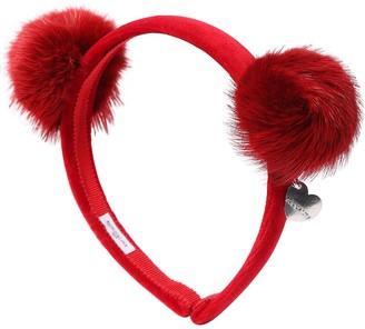 MonnaLisa Velvet Headband W/ Pompoms