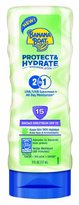 Banana Boat Sunscreen Protect and Hydrate Moisturizing Broad Spectrum Sun Care Sunscreen Lotion - SPF 15, 6 Ounce