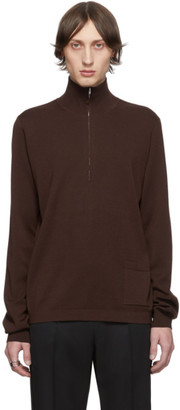 Maison Margiela Brown Zip Sweater