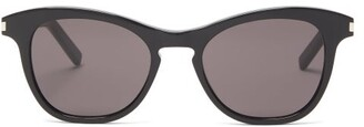 Saint Laurent Warped D-frame Acetate Sunglasses - Black