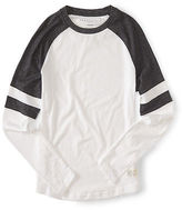 Aeropostale Mens Long Sleeve Marled Athletic Tee Shirt