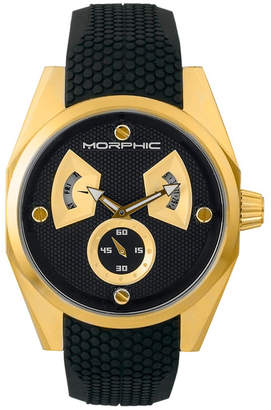 Morphic M34 Series, Gold/Black Silicone Watch, 44mm