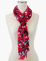 Talbots Watercolor Hearts Scarf