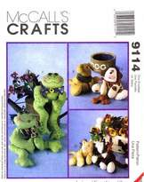 Mccall's 9114 Crafts Sewing Pattern Bean Bag Pal Animals Dog Cat Frog