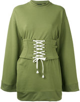 Fenty X Puma - corset waist sweatshirt - women - Cotton/Polyester/Spandex/Elastane - XXS
