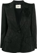 Fendi structured shoulder jacket