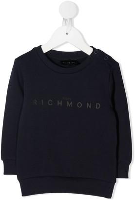 John Richmond Junior Logo Print Cotton Sweatshirt