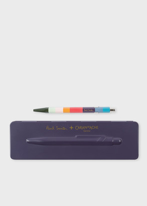 Paul Smith Caran d'Ache + 849 'Artist Stripe' Ballpoint Pen With Damson Case