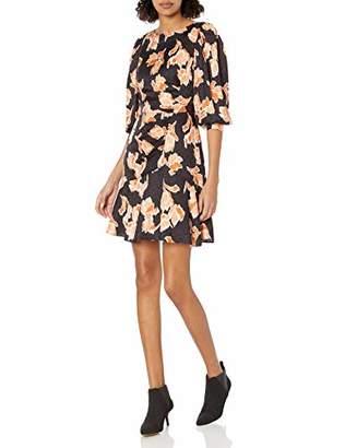 Rebecca Taylor Women's Long Sleeve Ikat Print Short Cocktail Dress