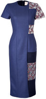 Roksanda Wool Blend Patchwork Langston Dress