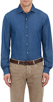 Ralph Lauren Purple Label Men's Aston Cotton Chambray Shirt-BLUE