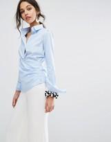 SPORTMAX CODE Sportmax Code Stripe Shirt with Wrap Front