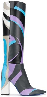 Emilio Pucci x Koche graphic-print boots