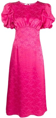 Andamane Satin Floral-Print Dress