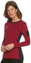 Chaps Women's Striped Pocket Tee