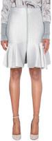 Lanvin Quilted wool-blend peplum skirt