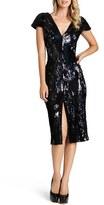 Dress the Population 'Elizabeth' Sequin Body-Con Midi Dress