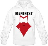 Qung Men's Meninist Beard Hoodies Hooded Sweatshirts L