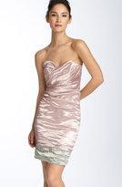 Metallic Crinkled Sheath Dress