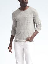 Banana Republic Heritage Linen Long-Sleeve Tee