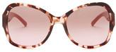 Tory Burch Women&s Blush Marble Oversized Sunglasses