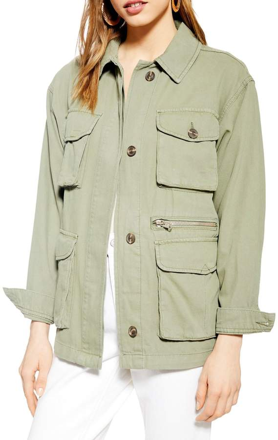 Topshop Scott Cotton Utility Jacket