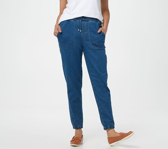 Martha Stewart Petite Pull-On Knit Denim Jogger Pants