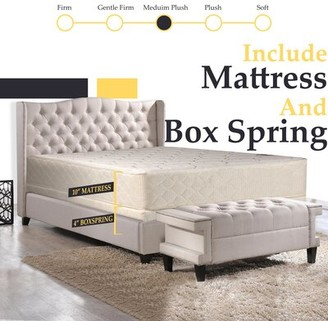 "Orthopedic 10"" Medium Innerspring Mattress White Noise Mattress Size: Twin, Box Spring Height: With Low Profile Box Spring"