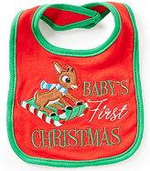 Baby Starters Baby's First Christmas Rudolph Bib