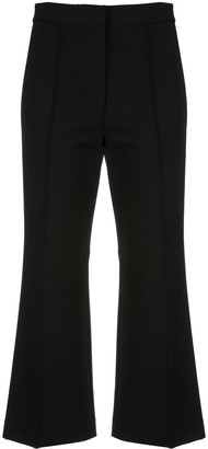 Tibi Cropped Flare Trousers