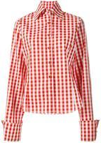 Marques Almeida Marques'almeida oversized sleeve gingham shirt