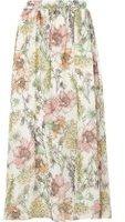 Dorothy Perkins Womens Petite Floral Maxi Skirt- White